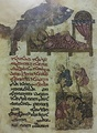 Feast of the Discovery of the Cross, from a 13th-century Nestorian Peshitta Gospel book written in Estrangela, preserved in the SBB.
