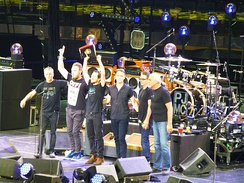 Pearl Jam onstage at Madison Square Garden on May 2, 2016