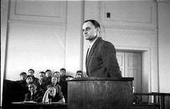 The show trial of Captain Witold Pilecki, sentenced to death and executed May 1948