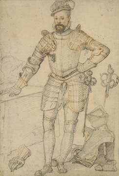Robert Dudley, dressed partly in tilting armour, 1575[71]