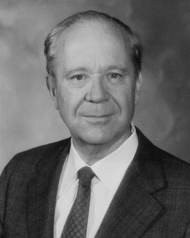 Long in 1985, two years prior to his retirement from the U.S. Senate