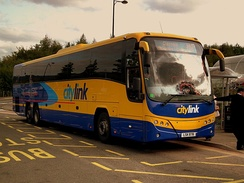Plaxton Panther 2 bodied Volvo B13R at Buchanan bus station, Glasgow in September 2011