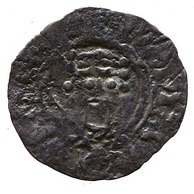 Silver penny of William II showing a crowned head facing forward (1089), Yorkshire Museum, York