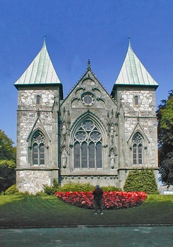 Stavanger domkirke, the oldest cathedral in Norway.