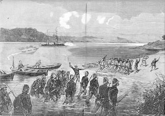 French sailors and marine infantry go ashore at Thuận An, 20 August 1883