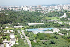 Aerial view of USP, located in São Paulo.
