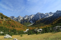 The Albanian Alps are the southernmost part of the Dinaric Alps.