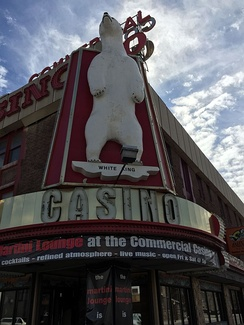 "The iconic ""White King"" at the Commercial Casino in downtown Elko"
