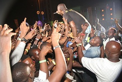 HKN's Davido entertaining the crowd at the Lagos Countdown 2012 in Nigeria
