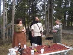 A Heathen baby naming ceremony in British Columbia, Canada in 2010