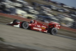 Lazier driving at the 1991 Toyota Monterey Grand Prix at Laguna Seca Raceway.