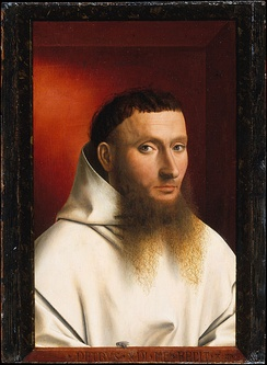 Portrait depicting a Catholic monk of the Carthusian Order (1446)