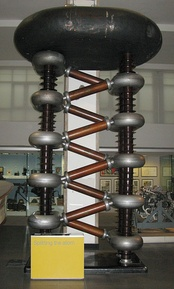A Cockcroft-Walton generator (Philips, 1937), residing in Science Museum (London).