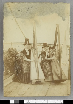 Welsh harpists at Caerwys Eisteddfod c.1892