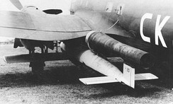 He 111H-16 with a V-1 flying bomb, 8 August 1944