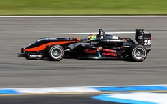 Merhi competing at the opening round of the 2009 Formula 3 Euro Series at Hockenheim.