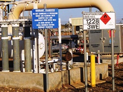 A pipeline odorant injection station