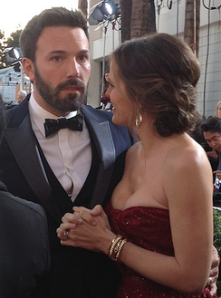 Garner, with Ben Affleck, at the 70th Golden Globe Awards in January 2013