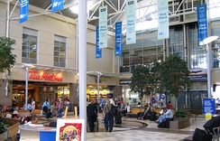 Food court and shops, Halifax Stanfield International Airport, Canada