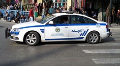 An Amman City Centre Police patrol vehicle.