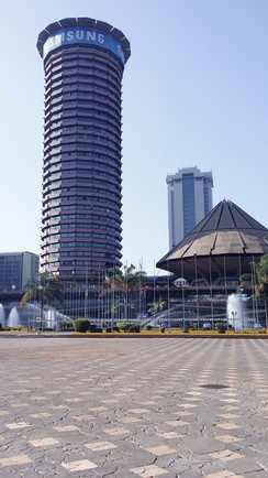 Kenyatta International Conference Centre with Times Tower in the background