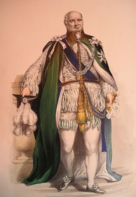 Prince Augustus Frederick, Duke of Sussex in the robes of a Knight of the Order of the Thistle