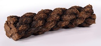 A piece of preserved rope found on board the 16th century carrack Mary Rose