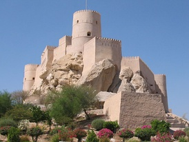Nakhal Fort, one of the best-preserved forts in Oman.