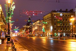 Nevsky Prospect at Christmas.