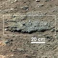 """Goulburn"" rock outcrop on Mars – close-up viewed by Curiosity (August 17, 2012)."