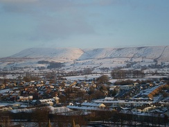 Pendle Hill in winter 2010