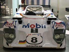 WSC-95 chassis #002 on display in its 1998 Porsche LMP1-98 guise.