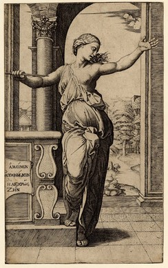 Lucretia, engraved by Raimondi after a drawing by Raphael[73]