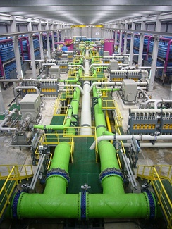 Reverse osmosis (RO) desalination plant in Barcelona, Spain
