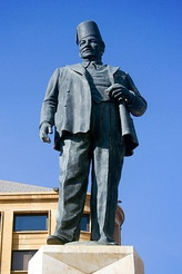 A statue of Riad Al Solh stands in Beirut's Downtown district