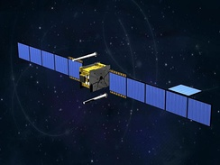 An artist's impression of a Skynet 5 satellite