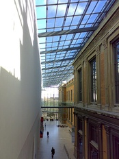 Interior of the National Gallery (Statens Museum for Kunst), combining new and old architecture