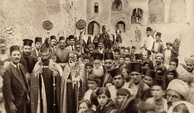 Celebration at the Syriac Orthodox Monastery in Mosul, early 20th century