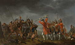 David Morier's depiction of the Battle of Culloden