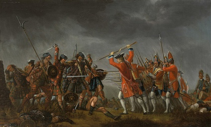 "The Battle of Culloden between the Jacobites and the ""Redcoats"""