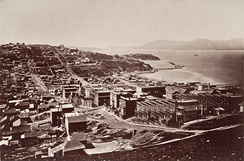 The Golden Gate photographed from Telegraph Hill by Carleton Watkins circa 1868