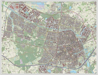 Dutch topographic map of Tilburg, as of March 2014