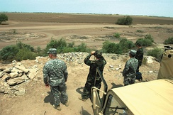 Members of the North Carolina Army National Guard monitoring the U.S.-Mexico border in southwest Arizona