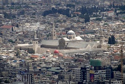 View of Damascus with the Umayyad Mosque in center