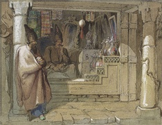 The Spice Sellers by Vittorio Amadeo Preziosi, 19th century