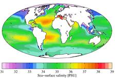 Среднегодовая соленость моря (2009)