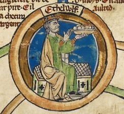 Alfred's father Æthelwulf in the early fourteenth-century Genealogical Roll of the Kings of England