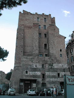 The Torre dei Conti was one of the many towers built by the noble families of Rome to mark their power and defend themselves in the several feuds that marked the city in the Middle Ages. Only the lower third part of Torre dei Conti can be seen today.