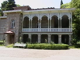 A corner of Chavchavadze's residence in Tsinandali where the still functioning famous winery serves today as a major tourist attraction in Kakheti.