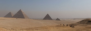 An example of ancient anthropization; Giza pyramid complex, Egypt.